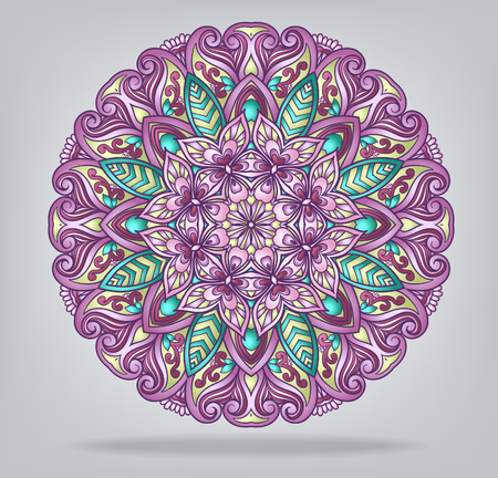 vector round ornamental ethnic ornament Vector
