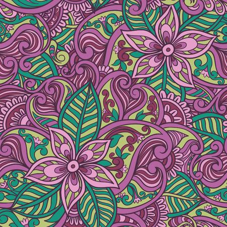batik motif: Decorative floral ornamental seamless pattern
