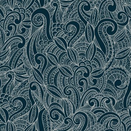 duo tone: Decorative floral ornamental seamless pattern