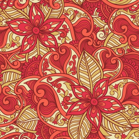 batik motif: Decorative floral ornamental seamless pattern