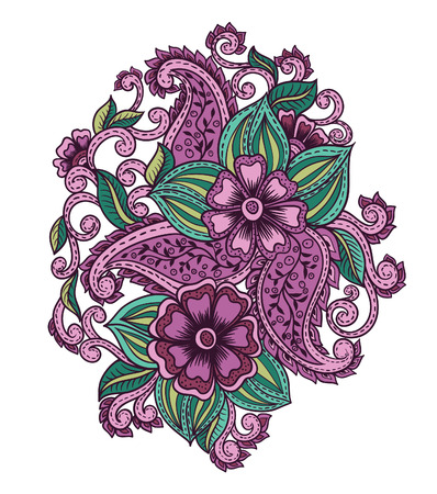 Indian floral pattern