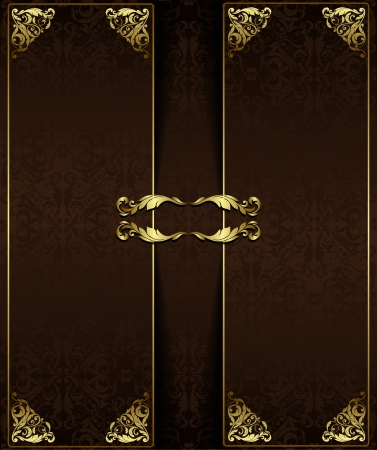Vintage background with golden elements.Can be used for banner, invitation, wedding card,  scrapbooking and others. Royal vector design element.