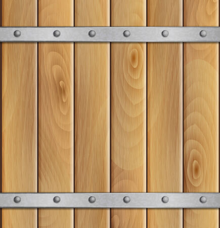 crossbar: Wooden background with metal crossbar Illustration