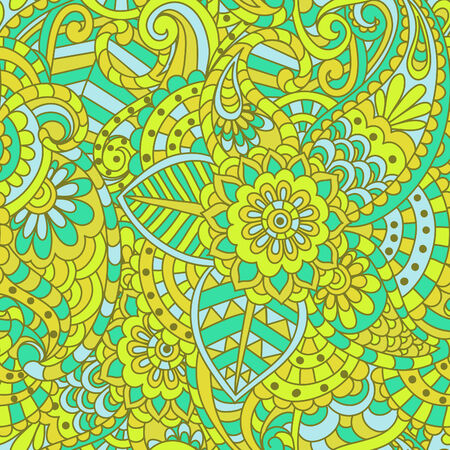 paisley wallpaper: seamless ethnic floral pattern Illustration