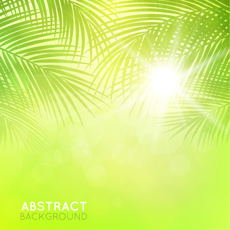 palm frond: background with palm branches