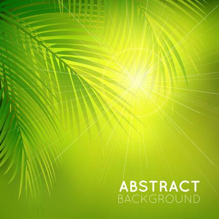 fond avec des branches de palmier