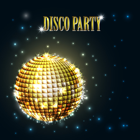 Mirror Ball: background with disco ball Illustration