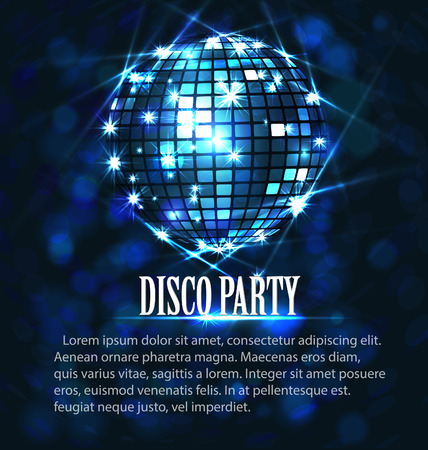 background with disco ball Vectores