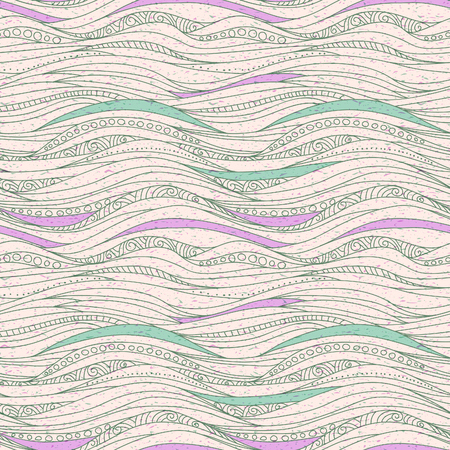 breeze: Seamless drawing pattern with waves Illustration