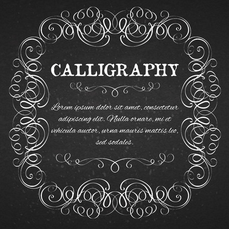 calligraphic design elements: page decoration calligraphic design elements template
