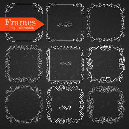 Set of vector graphic elements for design Stock Illustratie