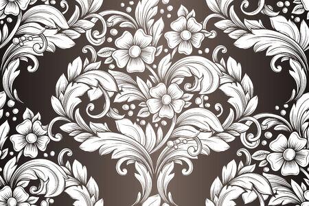 Vintage seamless hand drawn pattern Vector