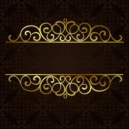 華やかな金枠  イラスト・ベクター素材