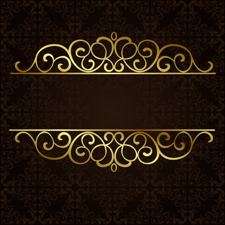 ornamental background: ornate gold border