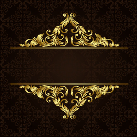 Vector ornate gold border 免版税图像 - 36108197