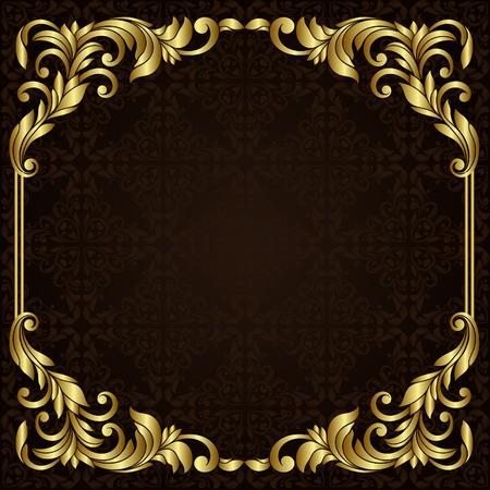 Vector sierlijke gouden rand Stock Illustratie