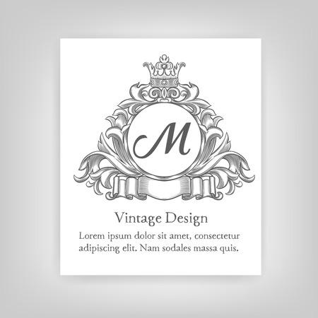 alcohol logo: Vintage emblem, monogram Illustration