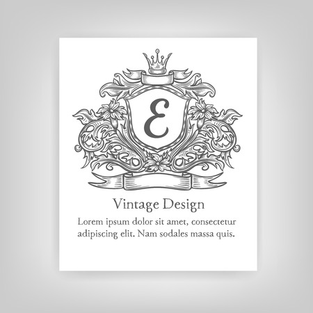 alcohol logo: Vintage emblem, monogram Illustration