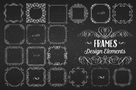 swirls vector: Curls, Banners and Swirls. Vector Vintage Design Elements. Illustration