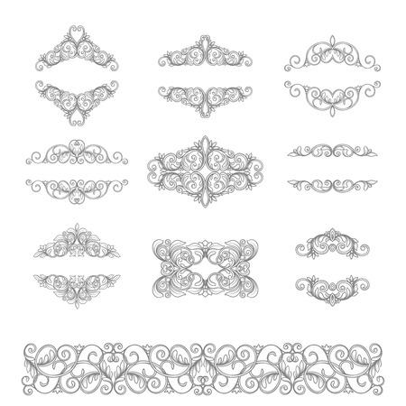 decoration elements: vector set calligraphic design elements and page decoration, Vintage Frame