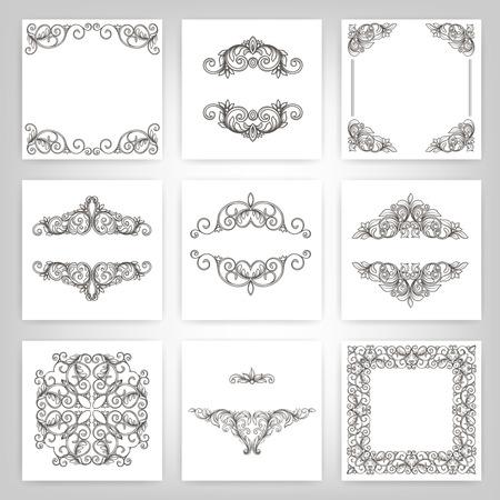 warranty: vector set  calligraphic design elements and page decoration, Vintage Frame