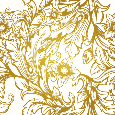 victorian pattern: vintage gold  victorian  floral luxury vector seamless  pattern