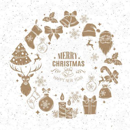 decoration design: Christmas design frame decoration. Illustration