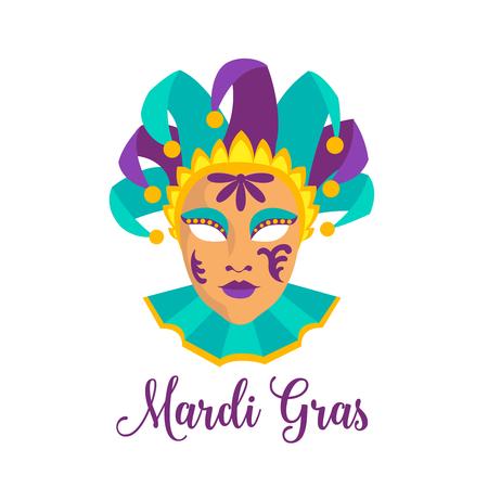 tacky: Mardi Gras icon. Illustration