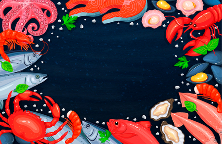 The seafood assortment