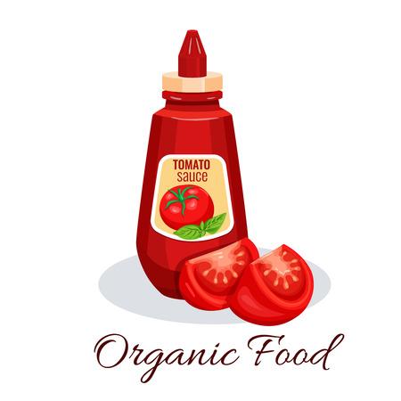 Tomato sauce, ketchup Illustration