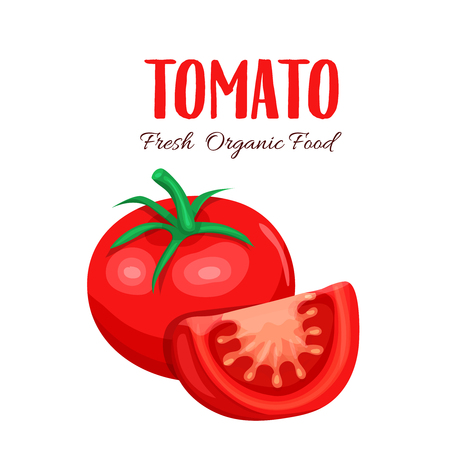 tomato slice: Vector tomato slice. Illustration