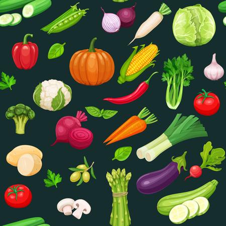 Verduras sin patrón.