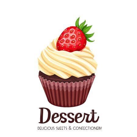 Vector cupcake icon. Reklamní fotografie - 85349446