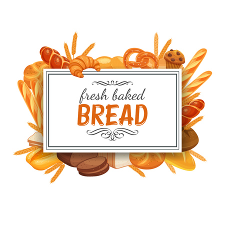 Frame template with breads
