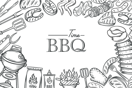 barbecue poster template royalty free cliparts vectors and stock