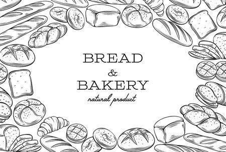 lineart: Bread template frame