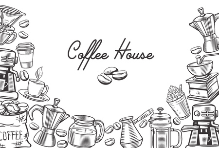 lineart: Coffee template page design