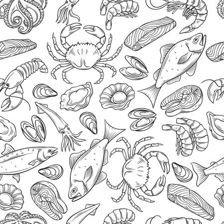 zeevruchten naadloze patroon