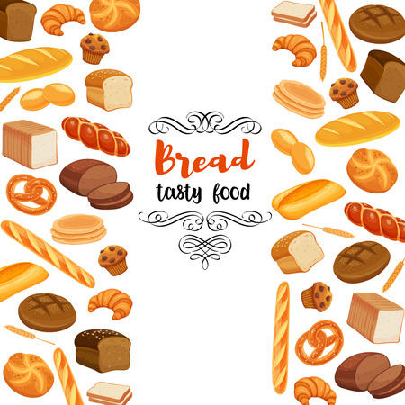Design food with bread products. Illustration