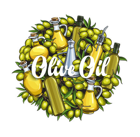 Banner template olive oil
