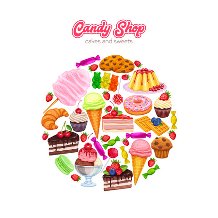 confectionery and sweets background design
