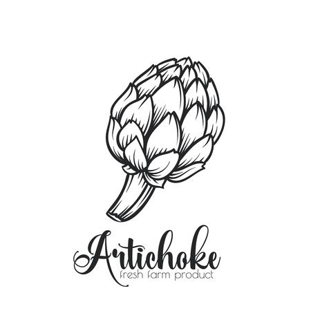 Hand drawn artichoke icon.