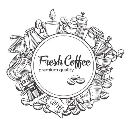 Coffee concept template design