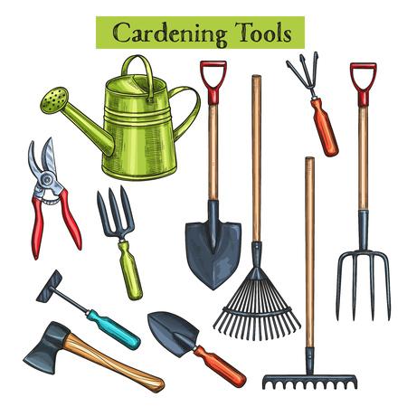 Narzędzia ogrodnicze Ilustracje wektorowe