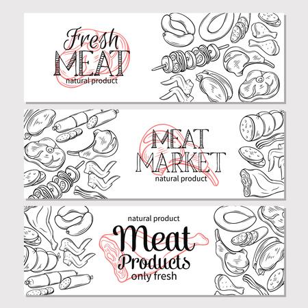 Fleischwaren Design Illustration