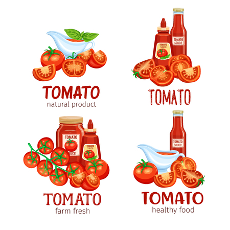 Red tomatoes and it's products.