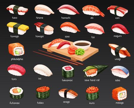 Vector sushi set. Illustration