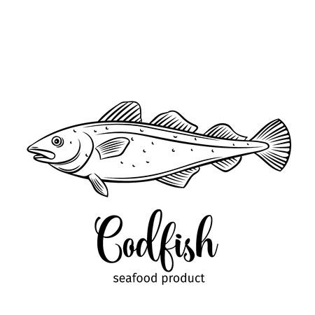 Vector codfish.