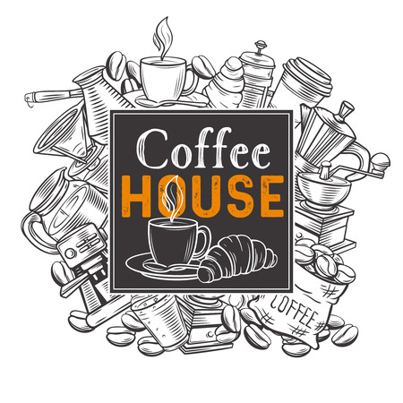 Banner template coffee house Illustration