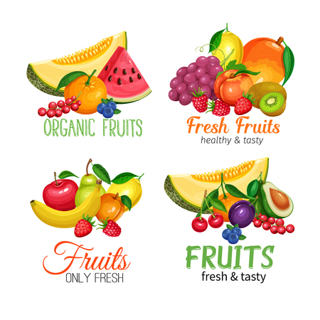 Fruits banners.